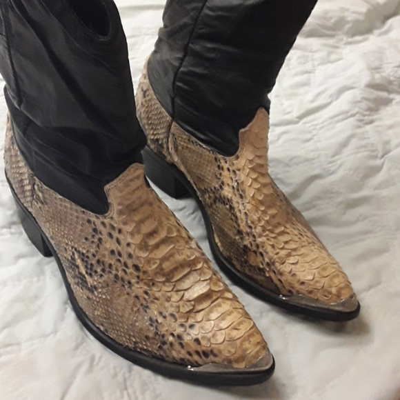 unknown Other - crocadile & leather mens boots